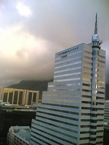 Weather coming down over Table Mountain